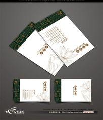 中式茶楼名片设计 CDR