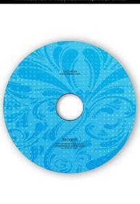 蓝色花纹光盘设计