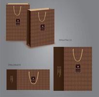 咖啡色高档手提袋