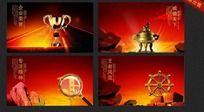 中国风企业文化精神展板设计