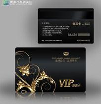 欧式花纹金色VIP设计