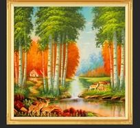 秋天里的童话室内装饰画
