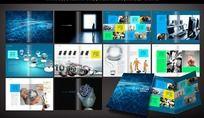 蓝色商务公司画册素材