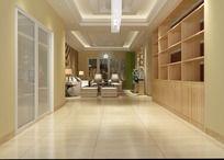 3D客厅模型和效果图