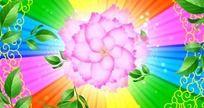 彩虹花朵led舞台背景视频