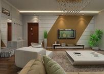 简约室内3D模型