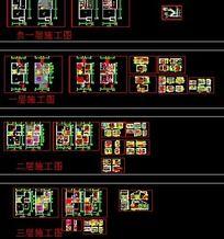 3层豪华别墅全套图纸