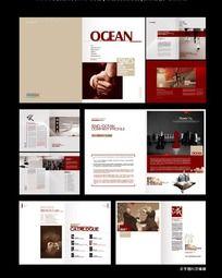 红色商业画册设计
