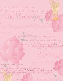 玫瑰花音符背景图案