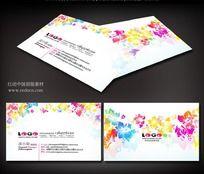 粉色花朵婚庆名片素材
