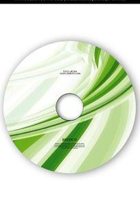 绿色动感线条光盘设计 PSD