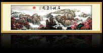 中国风层林尽染图挂画设计