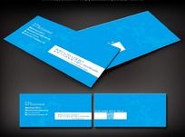 蓝色商业个人名片设计