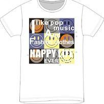 笑脸印花T恤印花图案