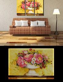 美丽花卉油画装饰画无框画