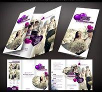 甜蜜婚纱摄影宣传折页设计