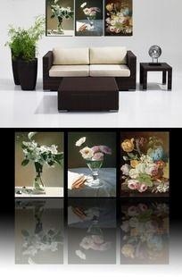 美丽百合花卉客厅无框画挂画