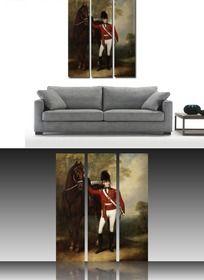 帅气骑士客厅无框画挂画