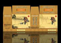 中国风土鸡蛋包装箱设计