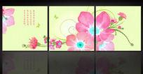 粉红花朵无框画素材