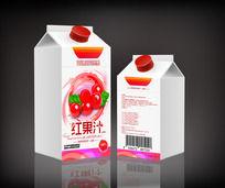红果汁饮料包装 PSD