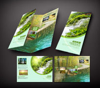 自然风景宣传三折页