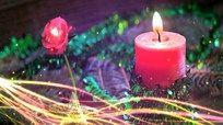 情人节蜡烛 情人生日烛光晚餐视频