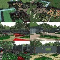 植物园景观SU模型
