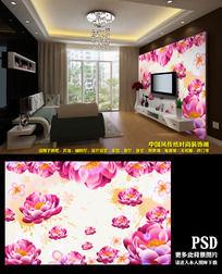 3d效果高清花朵时尚墙贴电视背景墙
