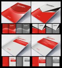 高端大气红色企业画册封面设计
