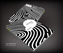 斑马条条服装画册封面