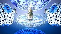 水中青花瓷视频背景 无缝循环