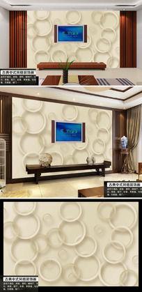 软包立体玫瑰花客厅电视背景墙