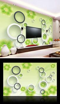 清爽环保立体电视背景墙