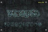 0-9透明涂鸦字体