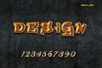 0-9艺术字体设计