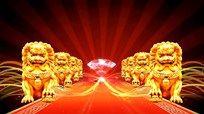 金狮子视频背景