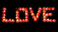 love爱心蜡烛情人节视频背景
