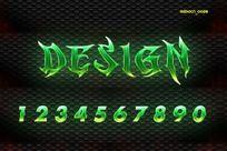 0-9绿色魔鬼字体