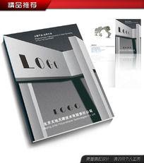 灰色科技行业企业画册封面封套文件夹