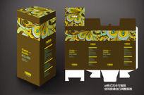 金色花纹包装盒设计
