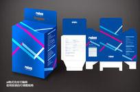 蓝色线条包装盒设计