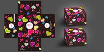 情侣蛋糕盒包装设计