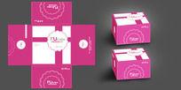 紫色蛋糕盒展开图设计