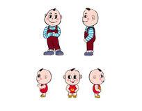 卡通中国娃娃矢量图 AI
