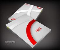 红色线条科技企业封面