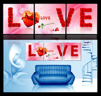 爱情无框画