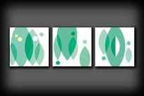 抽象色块无框画
