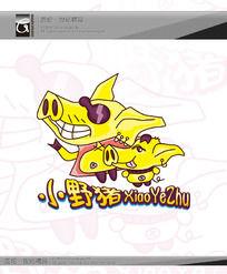 小野猪卡通标志 AI