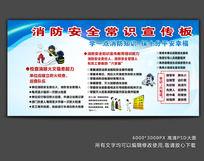 消防安全常识宣传栏展板模板